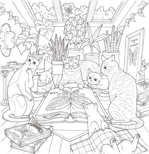 Cat Coloring Book Cat Coloring Book Coloring Books Cute Coloring Pages