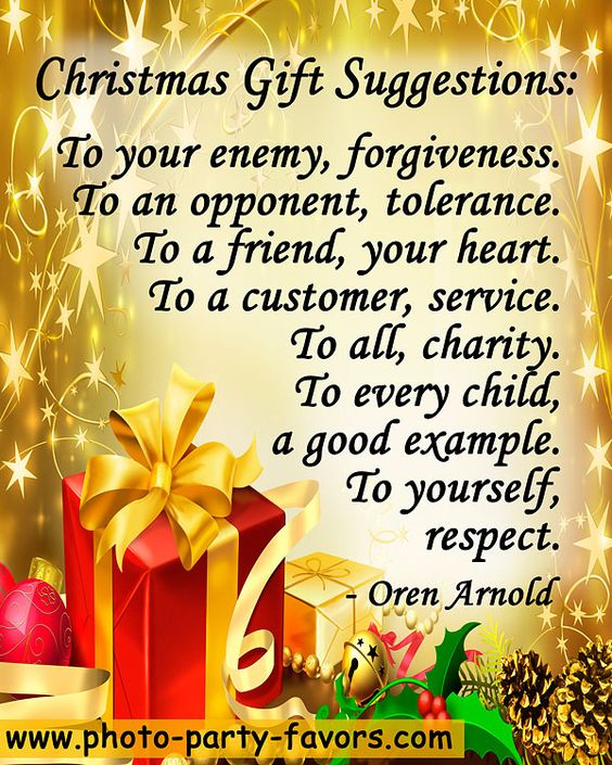 "Quotes About Christmas Gifts: ""Christmas Gift Suggestions: To Your Enemy, Forgiveness"