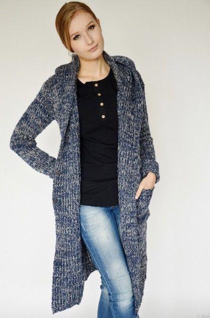 La Boom - Sweter Granatowy