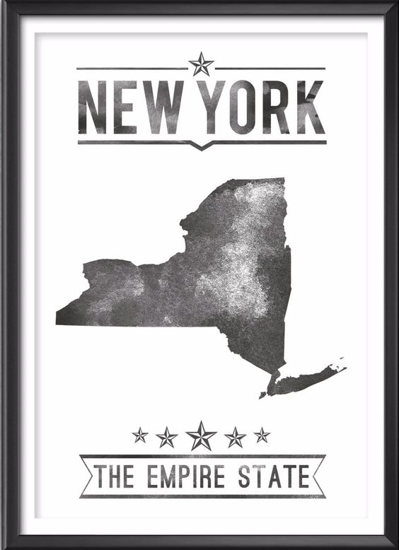 New York State Typography Print