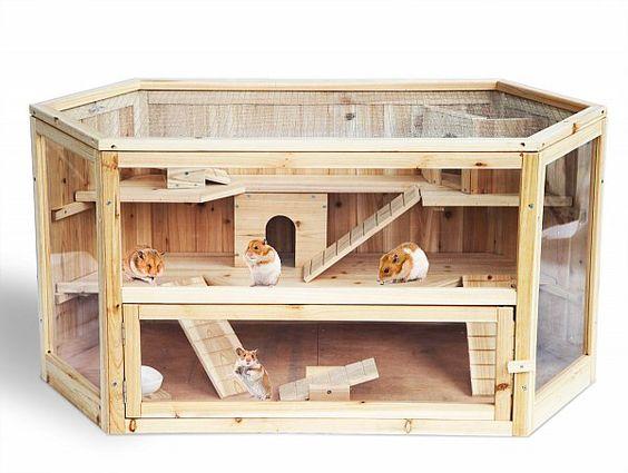 Woltu HT2007 Hamsterkäfig Nagerstall Kleintierkäfig, 3 Stöckige Mäusekäfig…