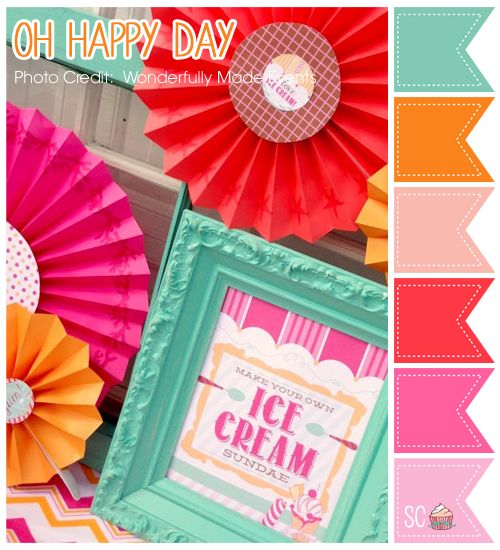 Oh Happy Day Color Palette - Inspire Sweetness  http://inspiresweetness.blogspot.com/