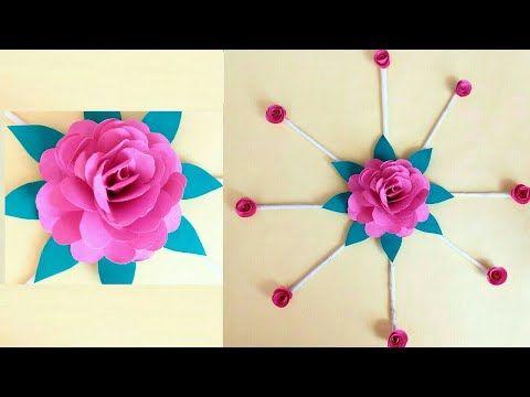Paper Flower Wall Hanging Paper Flower Ideas Paper Craft