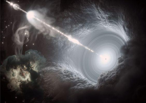 Buitenaardsen kunnen zwarte gaten gebruiken om door het heelal te reizen