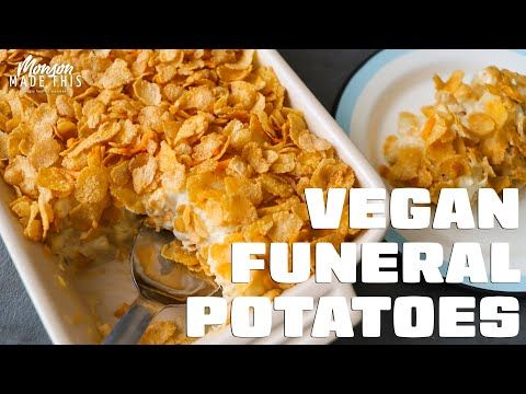 This Recipe For Vegan Funeral Potatoes Or Vegan Cheesy Potatoes Or Vegan Cheesy Potato Bake Or In 2020 Funeral Potatoes Cheesy Hashbrowns Cheesy Hashbrown Casserole