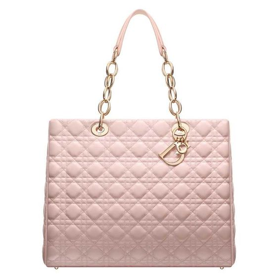 CAL44956G M413 Large powder pink leather 'Dior Soft' shopping ba