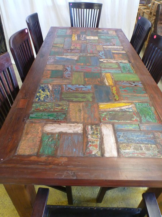 Recycled Timber Trestle Table Images Rustic