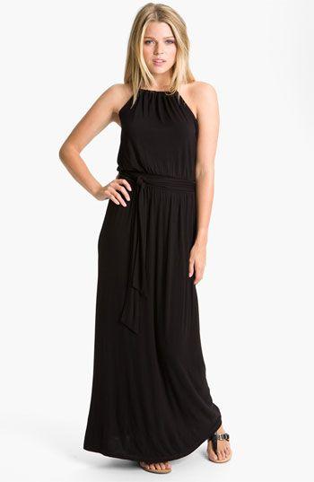 Caslon® Halter Knit Maxi Dress | Nordstrom