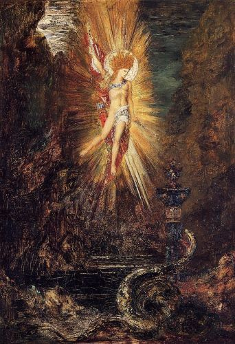 Apollo Vanquishing the Serpent Python   by Gustave Moreau.  Art Experience NYC  www.artexperiencenyc.com/social_login/?utm_source=pinterest_medium=pins_content=pinterest_pins_campaign=pinterest_initial