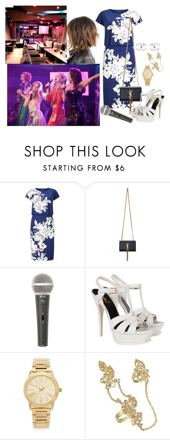 """Beatrice ... last night in Saudi Arabia"" by medicicapetiens ❤ liked on Polyvore featuring Phase Eight, Yves Saint Laurent, Galaxy Audio, Michael Kors and Chanel"