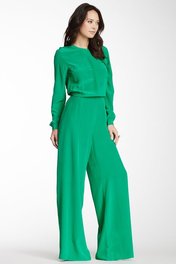 Rachel Roy Silk Long Sleeve Jumpsuit | My Style Pinboard ...