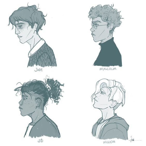 Jude, Malcolm, JB and Willem - A Little Life by izziemolle on DeviantArt