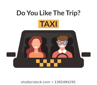 Client Woman And Taxi Driver Worker Character In Cab Taxi Car Cabin Taxi Transportation City Service Concept Vecto Taxi Driver Car Repair Service Car Cartoon