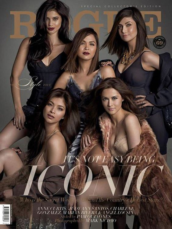 Rogue unveils star-studded September cover - Yahoo! She Philippines. First row: Anne Curtis, Judy Ann Santos, Charlene Gonzales Second Row: Angel Locsin, Marian Rivera
