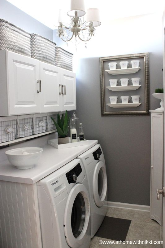 laundry room paint ideasI love this laundry room Athomewithnikki has the best