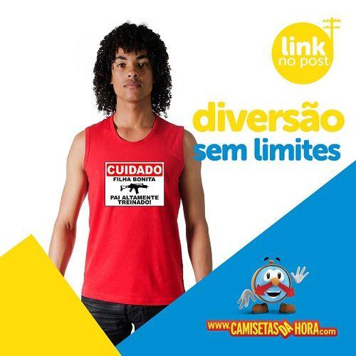 Camiseta Pai Treinado : CUIDADO Filha bonita, Pai Altamente Treinado! http://www.camisetasdahora.com/p-4-109-4182/Camiseta---Pai-treinado | camisetasdahora