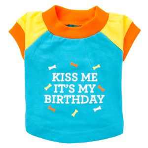 "Martha Stewart Pets® ""Kiss Me It's My Birthday"" Tee 