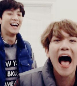Baekhyun and Chanyeol in their own little worlds, they don't even need to speak to each other to communicate.