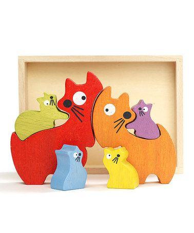 Another great find on #zulily! Cat Family Puzzle by BeginAgain #zulilyfinds