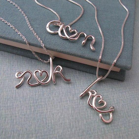 Custom Initials Necklace- adorable.