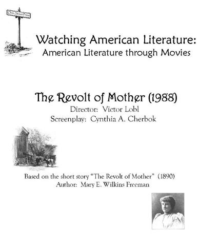 Free Watching American Literature Study Guide The Revolt Of
