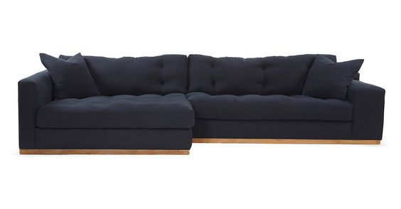 One Kings Lane - A New Perspective - Clayton Sectional, Navy
