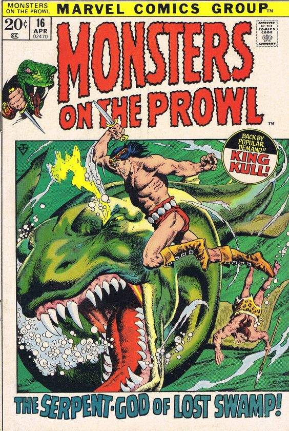 Monsters On The Prowl #16 (1972).  Cover art: John Severin.  Publisher: Marvel Comics.  The Best UNDERWATER Comic Book Covers.  A collection of some of the top underwater comic book covers ever created - album by BATCAVEDWELLER!