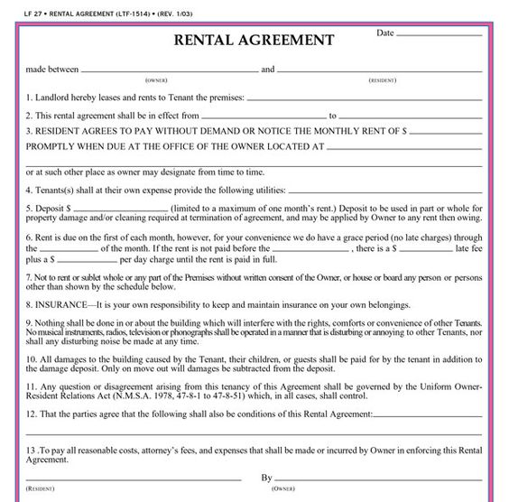 Rental Agreement Legal Document Pinterest Real estate forms - month to month lease agreement example