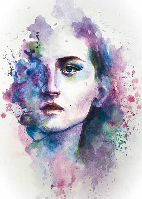 Imagination Muse Watercolor Portrait Painting Watercolor Art