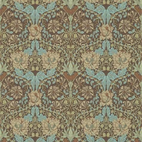 William Morris & Co Archive 3 Wallpapers Honeysuckle & Tulip Wallpaper - Taupe/Aqua - 214702