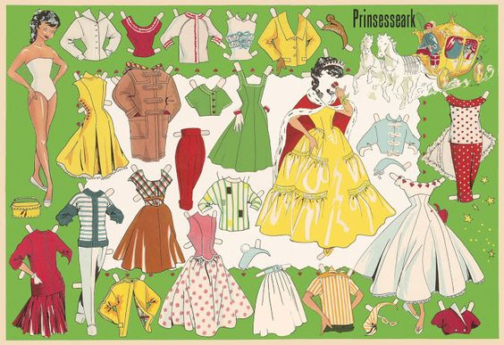 Danish Princess paper doll
