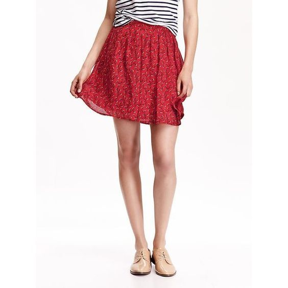 Old Navy Womens Pleated Chiffon Minis ($19) ❤ liked on Polyvore