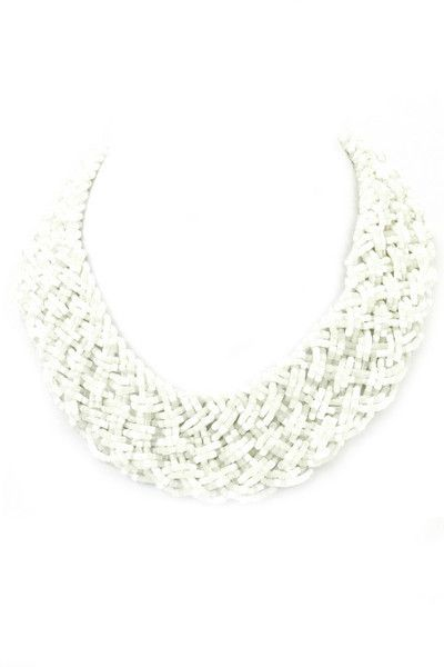 Santorini Beaded Braid Necklace