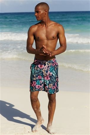 Buy Navy Floral Swim Shorts from the Next UK online shop