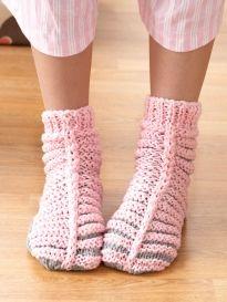 Free Crochet Phentex Slipper Pattern : Phentex - Fun Family Slippers Yarn Free Knitting ...