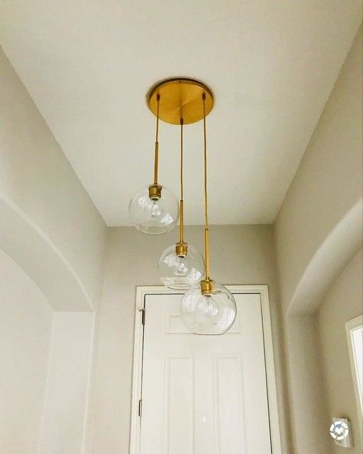 Small Light Globes West Elm Brass Light Fixture Entrance Hall