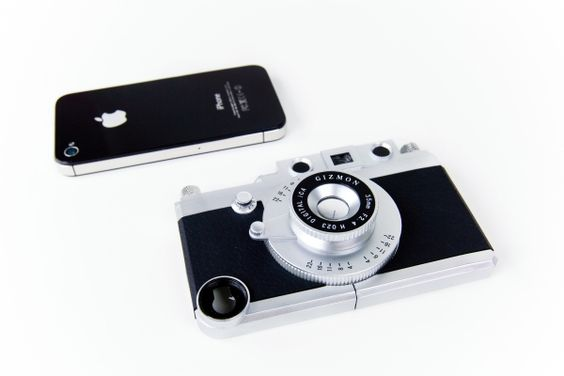 Photojojo | The iPhone Rangefinder - A shutter button, tripod mount, viewfinder, and magnetic lenses for a complete phoneography system.