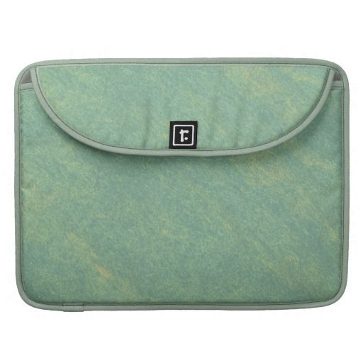 Green Marble Stone MacBook Pro Sleeves