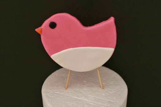 How to make a standing bird cake topper