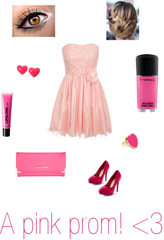 """""""A pink prom! 3"""" by charlotte91113 ❤ liked on Polyvore"""