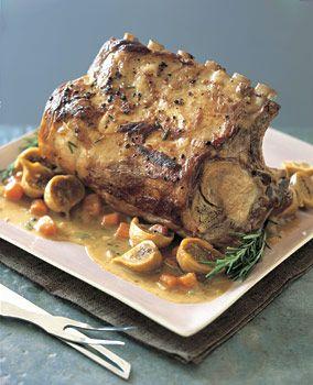 Rosemary Pot Roast - I made it with a 3 lb bone in sirloin pork roast ...
