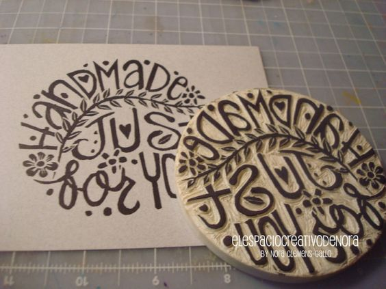 """Handmade stamp """"Handmade just for you""""  by Nora Clemens-Gallo"""
