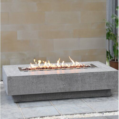 Colfax Concrete Propane Natural Gas Fire Pit Table Fire Pit