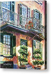 Wrought Iron Rhapsody Painting by Alice Grimsley - Wrought Iron Rhapsody Fine Art Prints and Posters for Sale