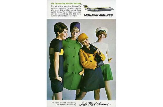 Mohawk Airlines, 1967 - Virgin America's New Uniforms: A 75-Year History of Fashion In Flight - TIME