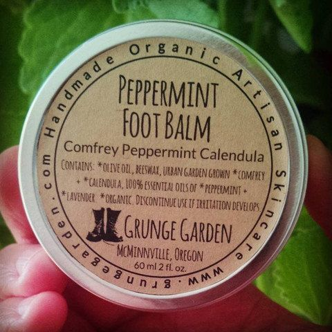 Peppermint Foot Balm by GrungeGardens on Etsy