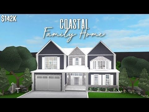 Roblox Bloxburg Coastal Family Home Youtube In 2020 House