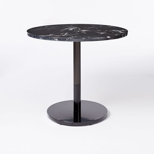 Black Marble Round Bistro Table Branch Base Marble Bistro Table Bistro Table Marble Tables Design