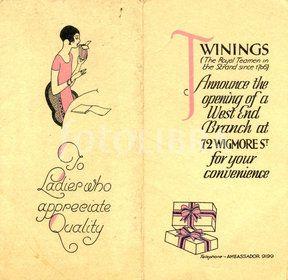 Vintage Twinings ad (1928)