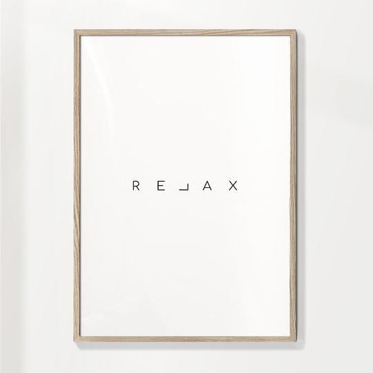 Lámina Palabra Relax Cuadros Modernos Y Elegantes Artesta Frases De Relajación Relax Cuadros